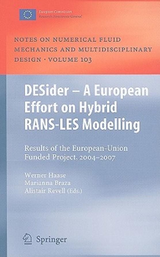 DESider - A European Effort on Hybrid RANS-LES Modelling