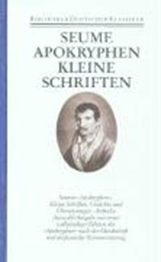 Apokryphen. Kleine Schriften. Gedichte. Übersetzungen