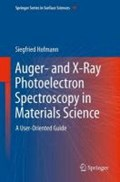 Auger- and X-Ray Photoelectron Spectroscopy in Materials Science | Siegfried Hofmann |