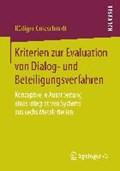 Kriterien Zur Evaluation Von Dialog- Und Beteiligungsverfahren | Rudiger Goldschmidt |