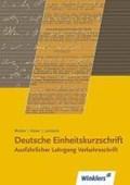 Deutsche Einheitskurzschrift I. Verkehrsschrift. Ausführlicher Lehrgang | Winkler, Michael ; Rieser, Karl |