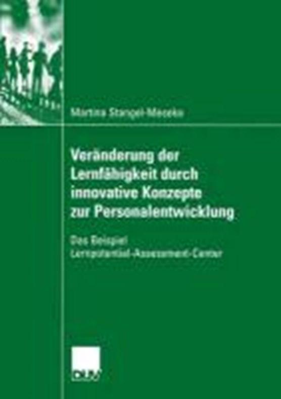 Veranderung Der Lernfahigkeit Durch Innovative Konzepte Zur Personalentwicklung