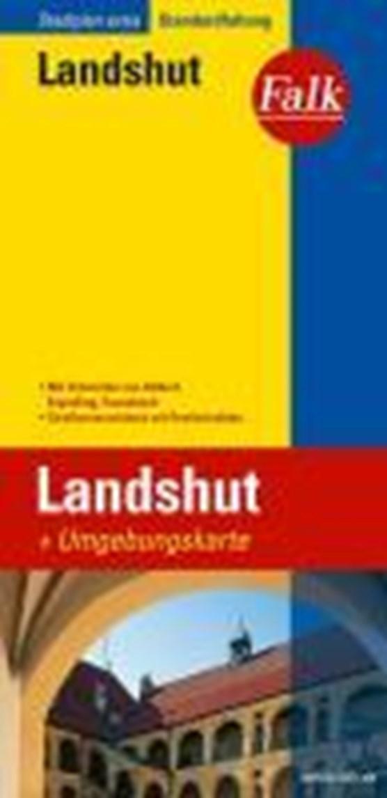 Falk Stadtplan Extra Standardfaltung Landshut 1 : 17 500