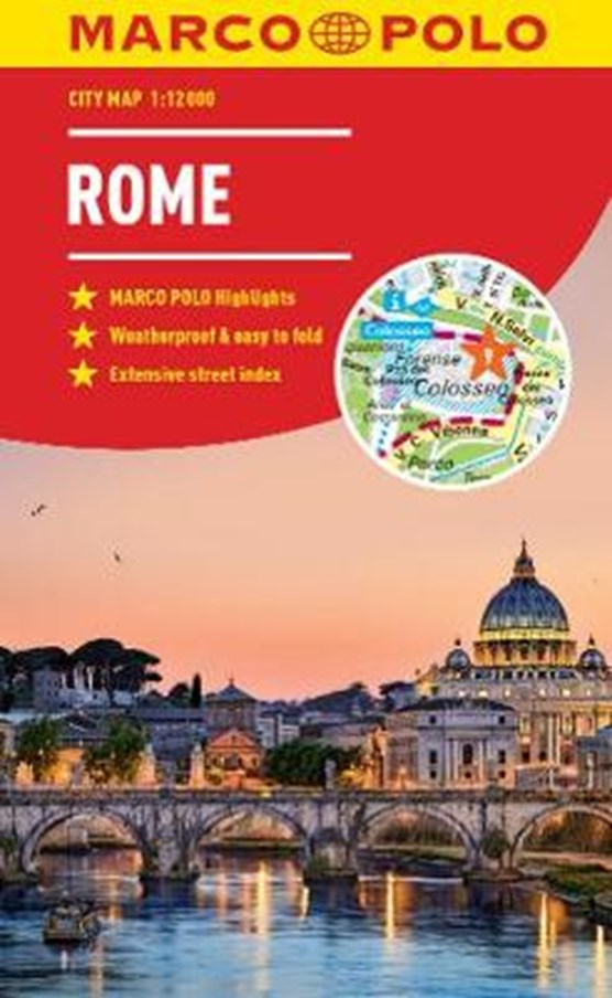 Rome Marco Polo City Map - pocket size, easy fold, Rome street map