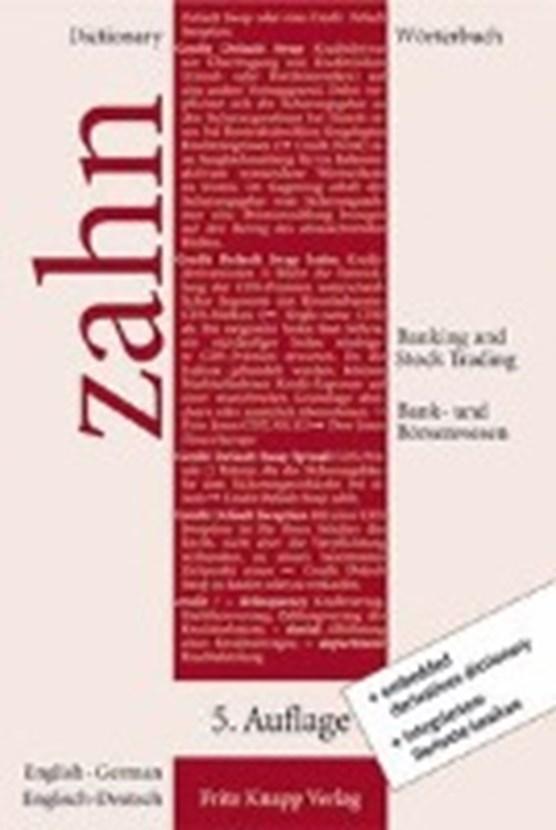 Wörterbuch für das Bank- und Börsenwesen II. Englisch - Deutsch