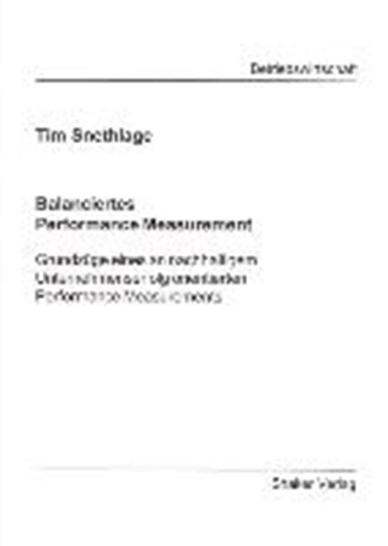 Snethlage, T: Balanciertes Performance Measurement