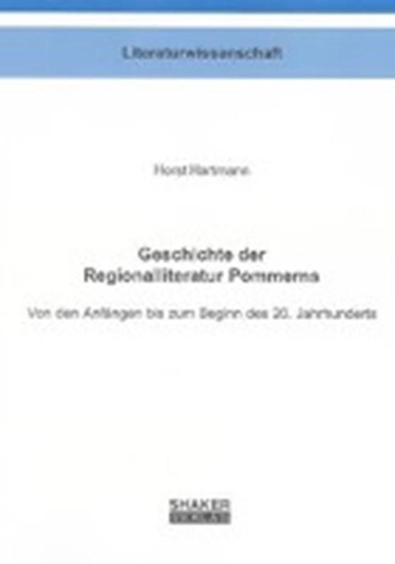 Geschichte der Regionalliteratur Pommerns