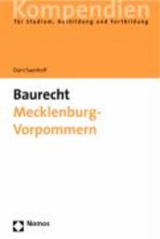 Dürr, H: Baurecht Mecklenburg-Vorpommern