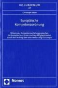 Europäische Kompetenzordnung | Christoph Ritzer |