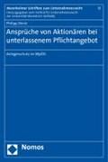 Ansprüche von Aktionären bei unterlassenem Pflichtangebot | Philipp Derst |