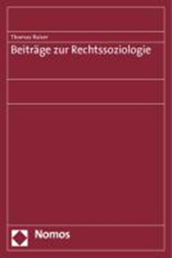 Beiträge zur Rechtssoziologie
