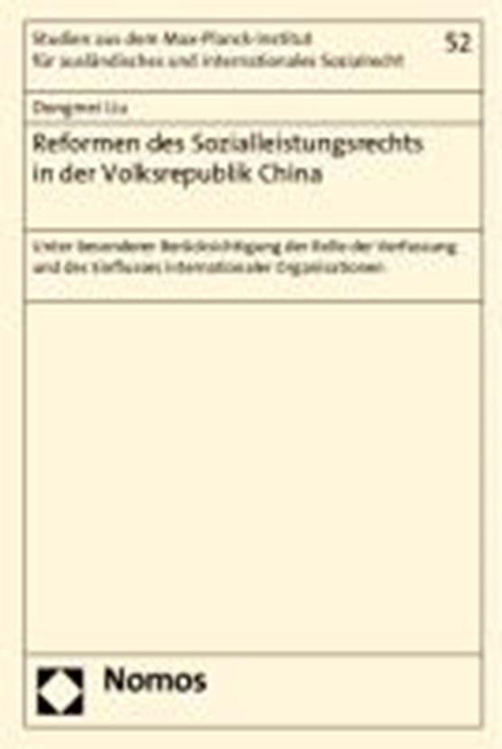 Reformen des Sozialleistungsrechts in der Volksrepublik China