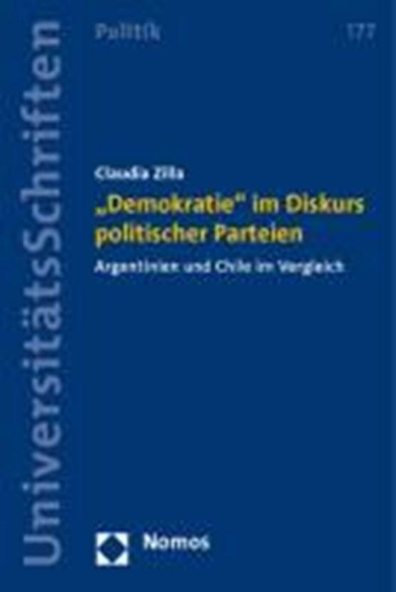 """""""Demokratie"""" im Diskurs politischer Parteien"""