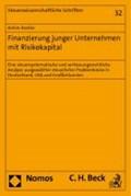 Finanzierung junger Unternehmen mit Risikokapital | Achim Kestler |