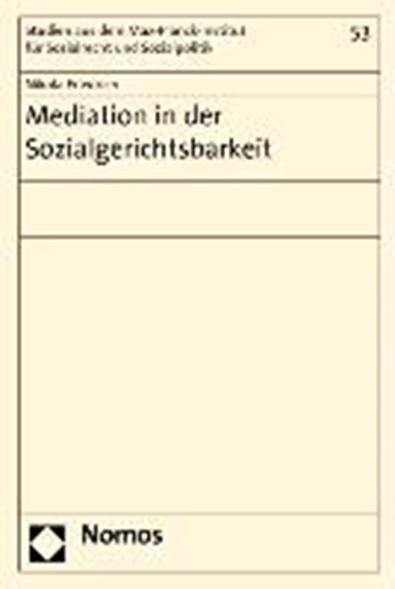 Mediation in der Sozialgerichtsbarkeit