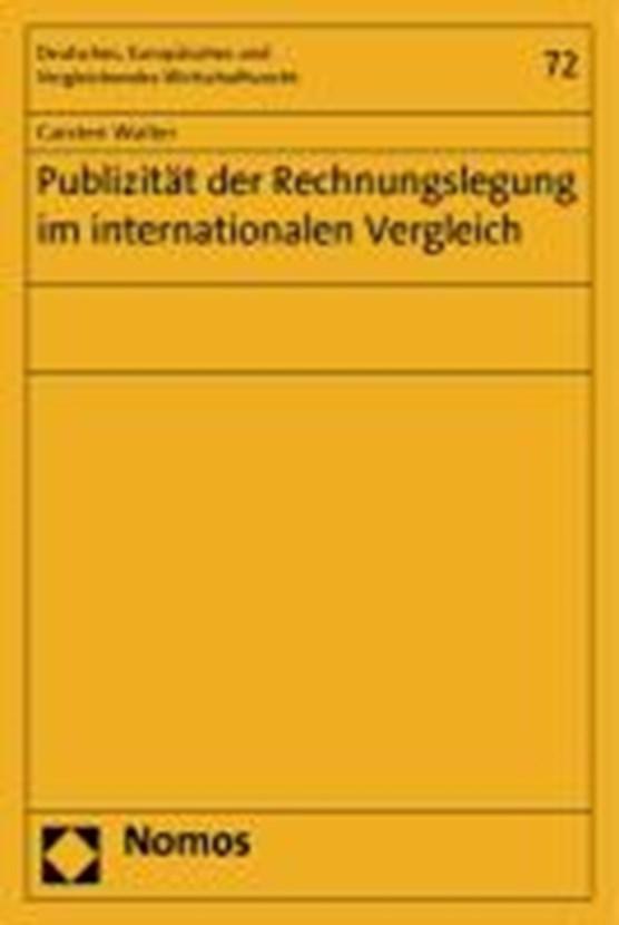 Publizität der Rechnungslegung im internationalen Vergleich