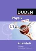 Physik Na klar! 7/8 Arbeitsheft Thüringen/Mecklenburg-Vorpommern Realschule   Gau, Barbara ; Kunert, Günter ; Meyer, Lothar ; Schmidt, Gerd-Dietrich  