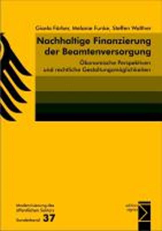 Nachhaltige Finanzierung der Beamtenversorgung