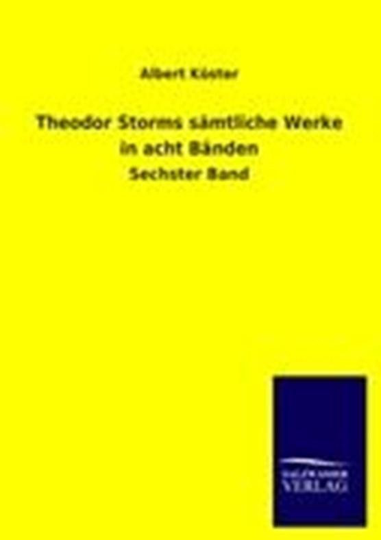 Theodor Storms S Mtliche Werke in Acht B Nden