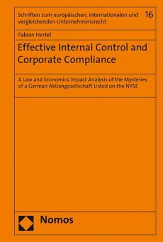 Effective Internal Control and Corporate Compliance