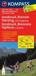 Kompass FK3411 Innsbruck, Brenner, Sterzing   auteur onbekend  