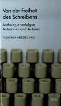 Von der Freiheit des Schreibens   Helmuth A. Niederle  
