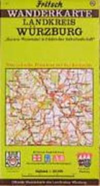 Landkreis Würzburg 1 : 50 000. Fritsch Wanderkarte | auteur onbekend |