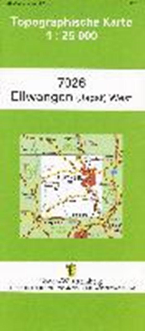 Ellwangen (Jagst) West 1 : 25 000