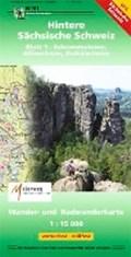 Hintere Sächsische Schweiz Blatt 01. Schrammsteine, Affensteine, Zschirnsteine 1 : 15 000 | auteur onbekend |