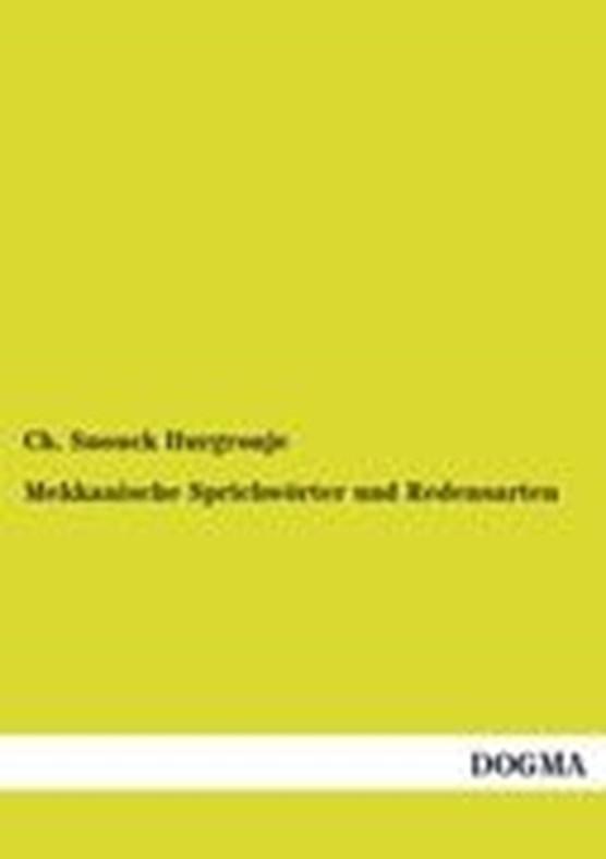 Mekkanische Sprichwoerter und Redensarten