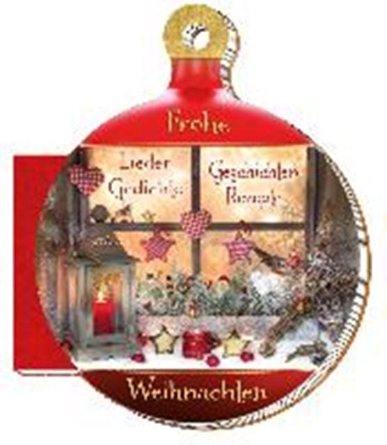 """Weihnachtskugelbuch """"Frohe Weihnachten"""""""