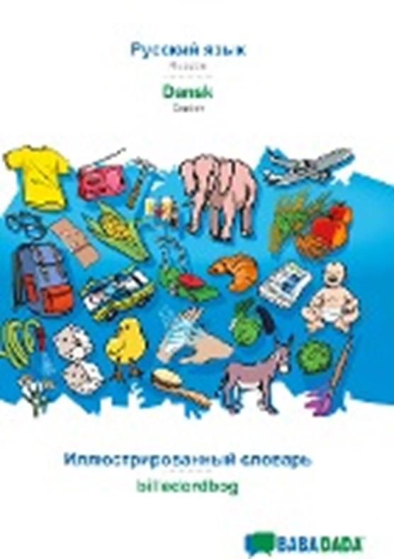 BABADADA, Russian (in cyrillic script) - Dansk, visual dictionary (in cyrillic script) - billedordbog
