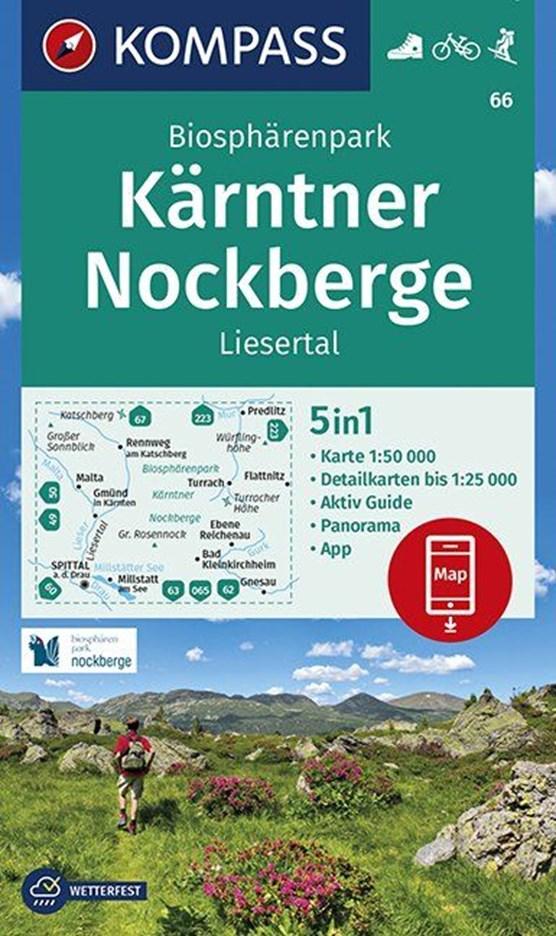 Biosphärenpark Kärntner Nockberge, Liesertal 1:50 000