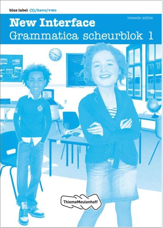 New Interface Blue label - Grammatica scheurblok 1 set ? 5 ex / deel Grammatica scheurblok 1