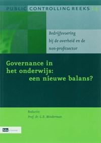Governance in het onderwijs : een nieuwe balans | G.D. Minderman |