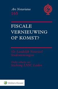 Fiscale vernieuwing op komst? | Stichting Lnsc Leiden |