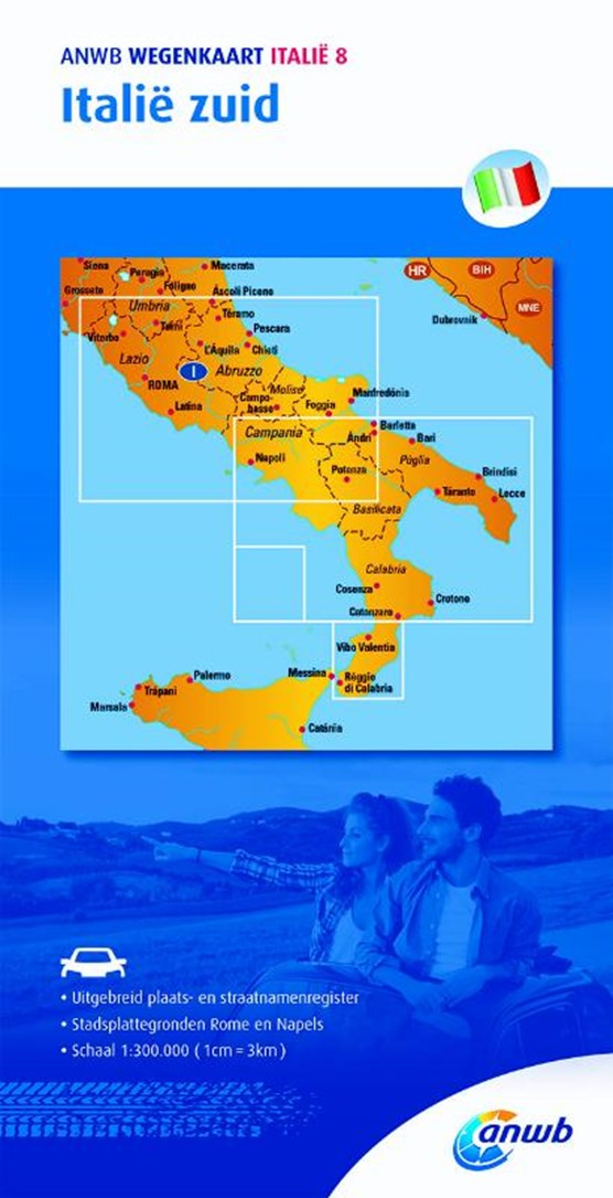 Wegenkaart Italië 8. Italië zuid