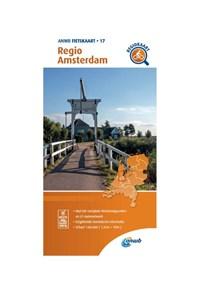 Fietskaart Regio Amsterdam 1:66.666   Anwb  