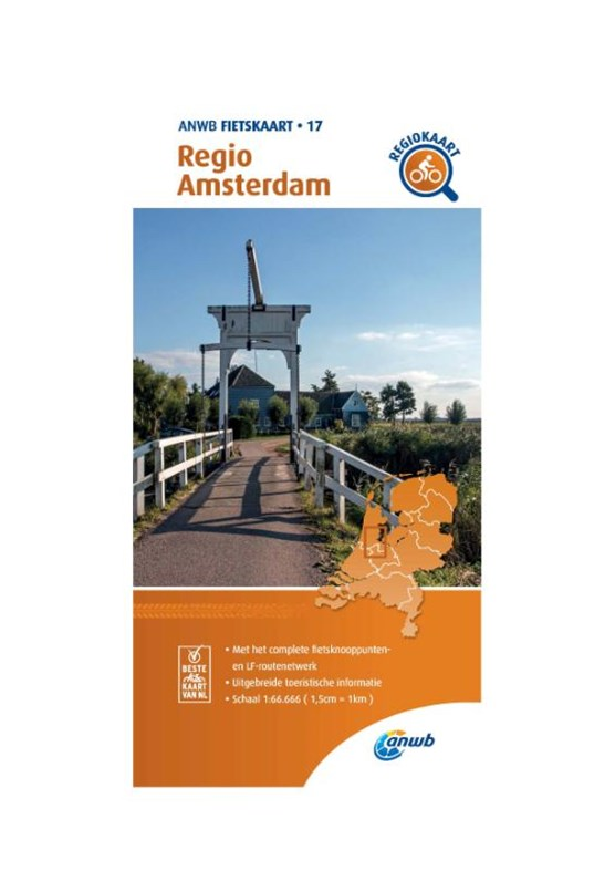 Fietskaart Regio Amsterdam 1:66.666