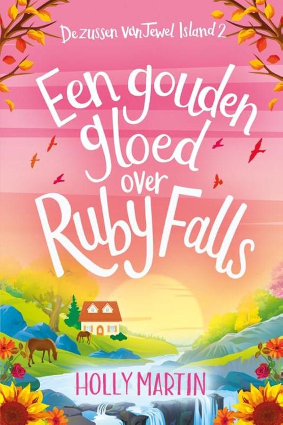 Een gouden gloed over Ruby Falls
