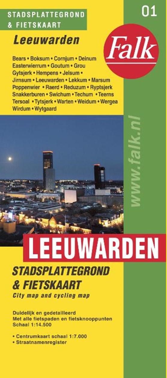 Leeuwarden stadsplattegrond & fietskaart