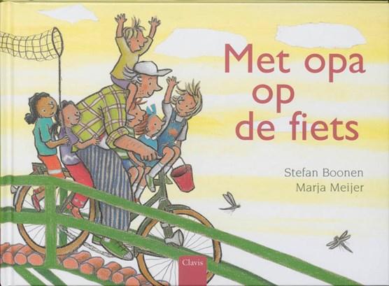 Met opa op de fiets