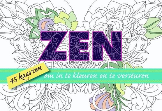 Zen, 45 kaarten om in te kleuren en te versturen