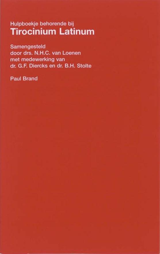 Tirocinium latinum hulpboekje