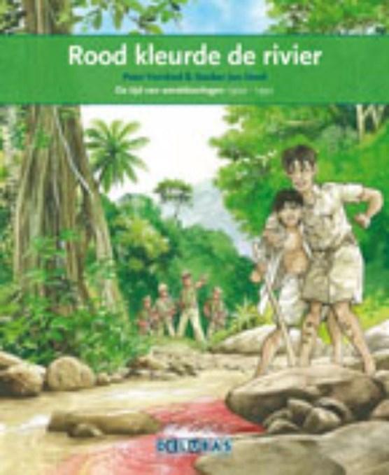 Rood kleurde de rivier Indonesie