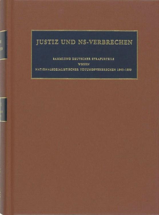 Justiz und NS-Verbrechen XXXVIII
