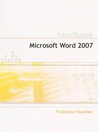 Handboek Microsoft Word 2007 NL | F. Fouchier |