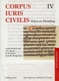 Corpus Iuris Civilis IV Digesten 25-34 | J.E. Spruit |