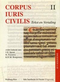 Corpus iuris civilis II Digesten 1-10 | J.E. Spruit |
