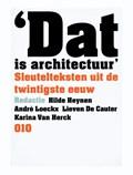 Dat is architectuur   Hilde Heynen  
